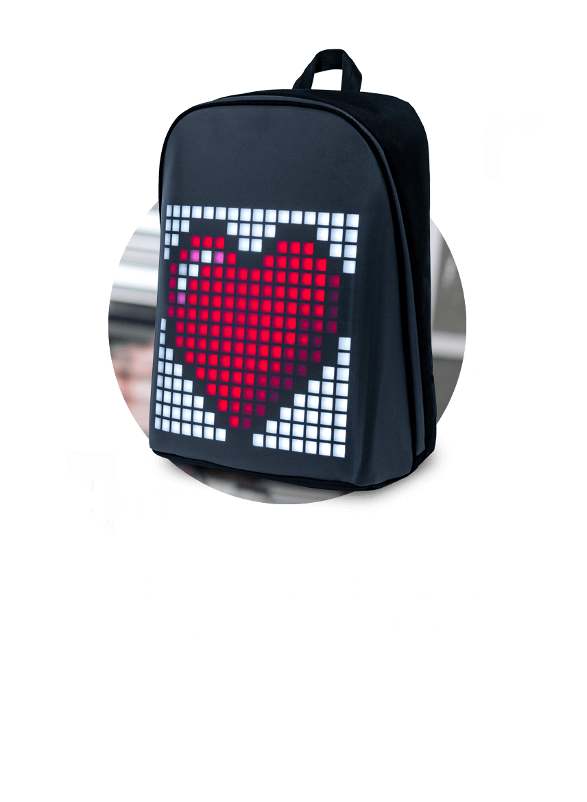 WiseTech Top Banner DIVOOM PIXOO BACKPACK